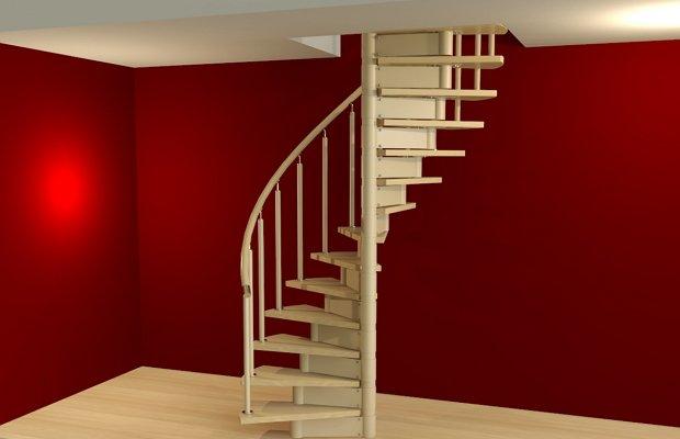 Изготовление и монтаж круговой лестницы
