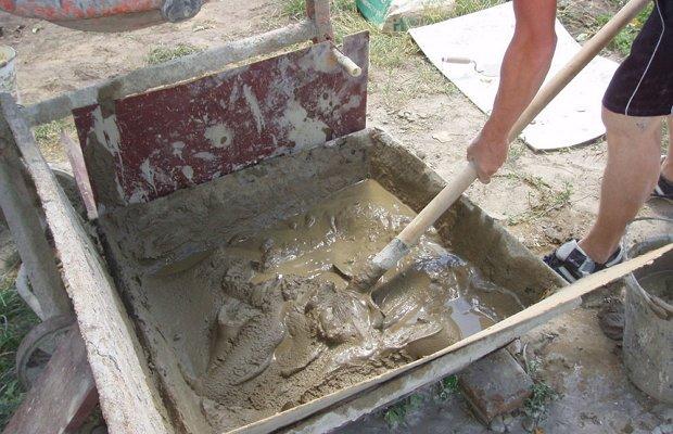 Порядок бетонирования каркаса