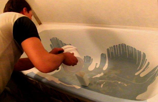 Технология выполнения наливной ванны