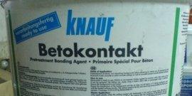 Фото - Бетоноконтакт Кнауф – качественный грунтовочный состав люкс-класса