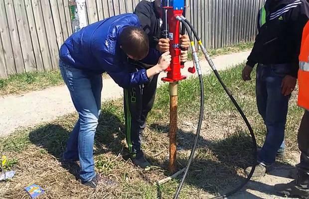 Стандартная технология забивания трубы – инструкция