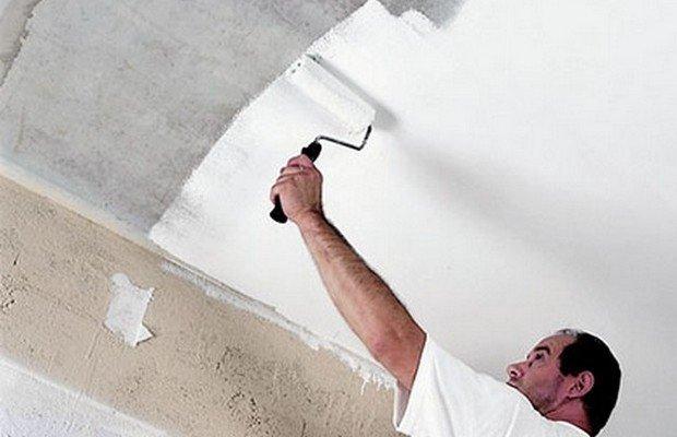 Покраска потолка – простой вид ремонта своими руками