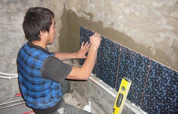 Определяемся с количеством плитки и выбираем методику ее монтажа
