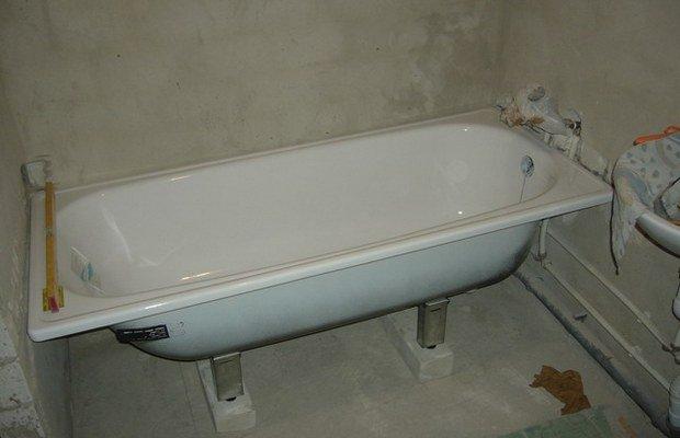 Общепринятые требования к монтажу чугунных ванн
