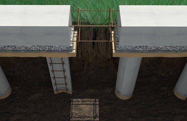 Столбчатое основание – самый простой фундамент для хозяйственной постройки