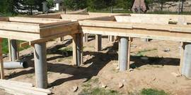 Фундамент из металлических труб – делаем сами надежное столбчатое основание