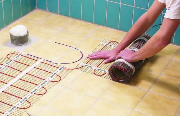 Монтаж электрической системы нагрева пола в ванной комнате – инструкция