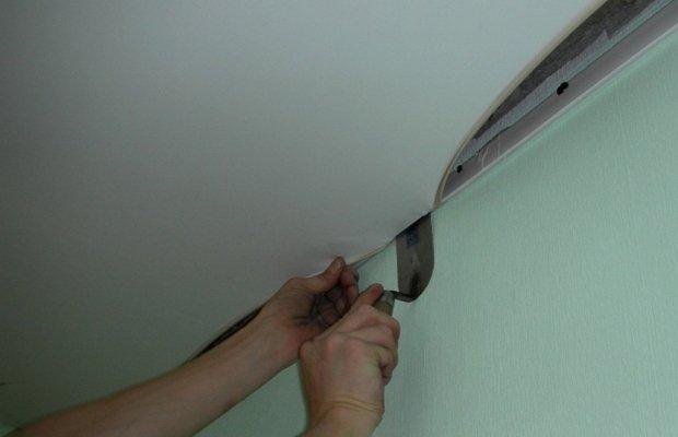 Как снять тканевый потолок – нюансы операции