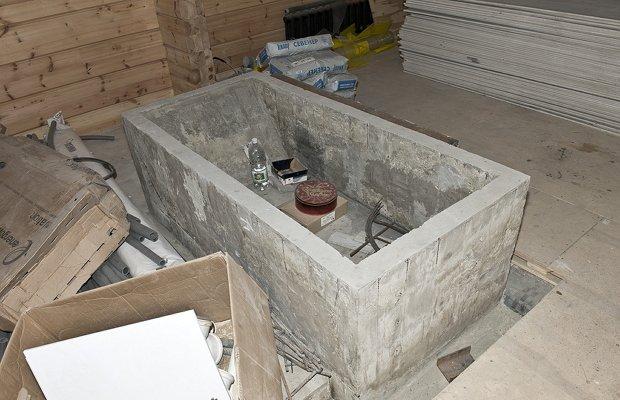 Доводим бетонную ванну до кондиции – инструкция