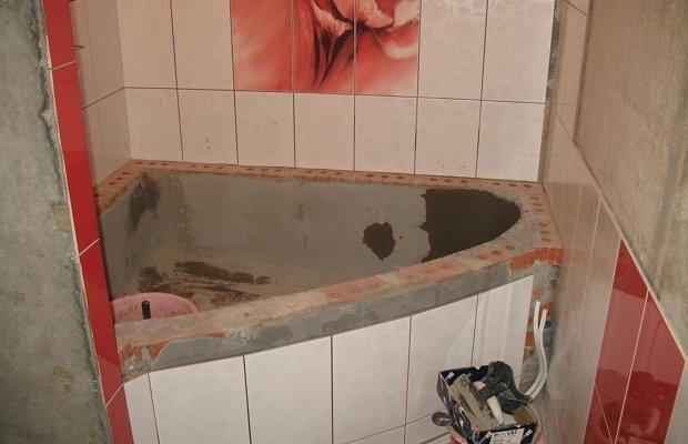 Ванная из кирпича фото