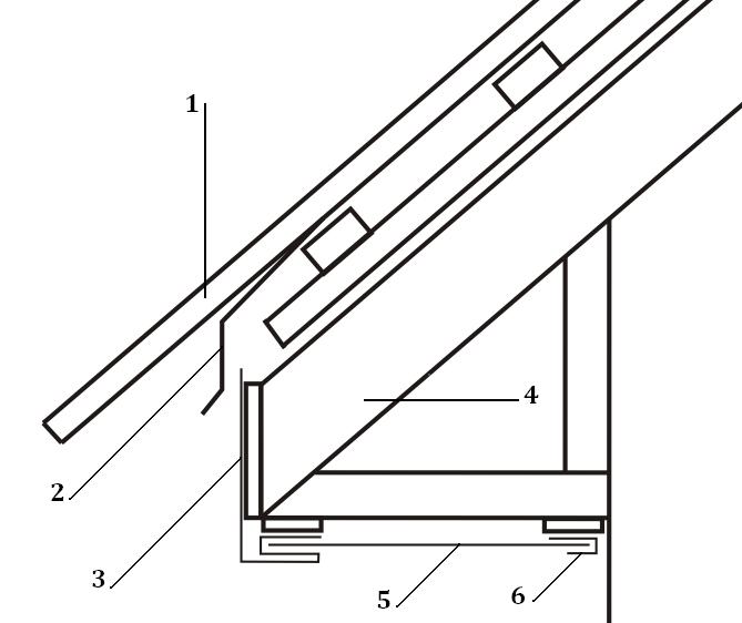 Устройство карнизного свеса для крыши из профнастила