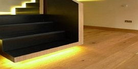 Фото - Светодиодная подсветка лестницы – создаем оригинальную и безопасную конструкцию