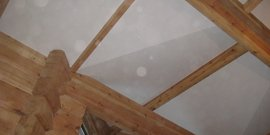Гипсокартон на деревянный потолок – все тонкости монтажа