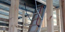 Складная лестница на технический этаж – строим быстро и надежно