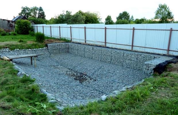 Бассейны из габионов и бетонного кольца – делаем на века
