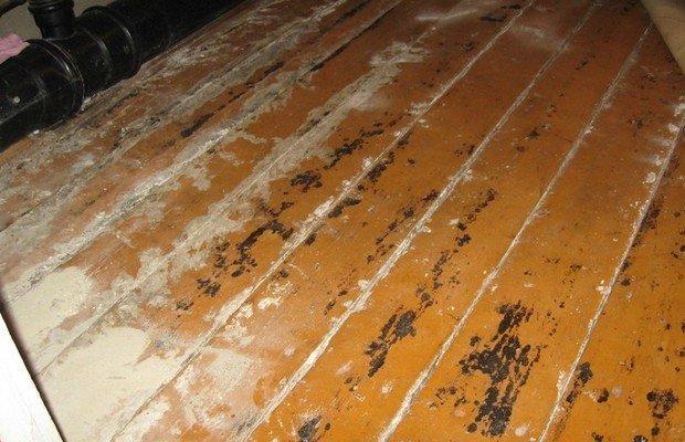 Выравнивание деревянных оснований шпатлевкой и спецсоставами