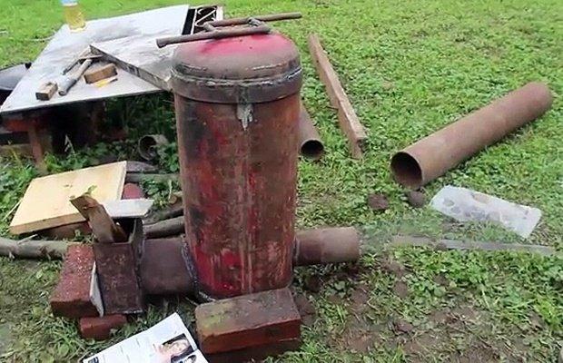 Самодельная печь-ракета – в чем достоинства?