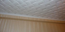 Бесшовная потолочная плитка – роскошный декор своими руками