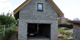 Фото - Строительство гаража из керамзитобетонных блоков – технология от А до Я