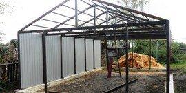 Строительство гаража из металлоконструкций – все сделаем сами!