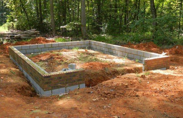 Начинаем строительство своими руками – фундамент, смотровая яма и пол