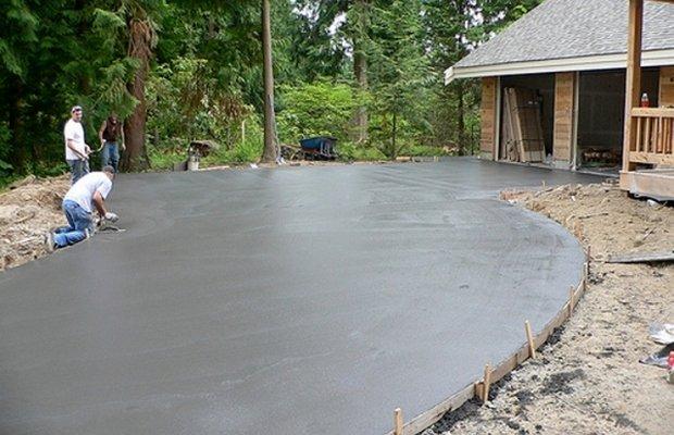 Бетонная основа – идеальна для укладки плитки