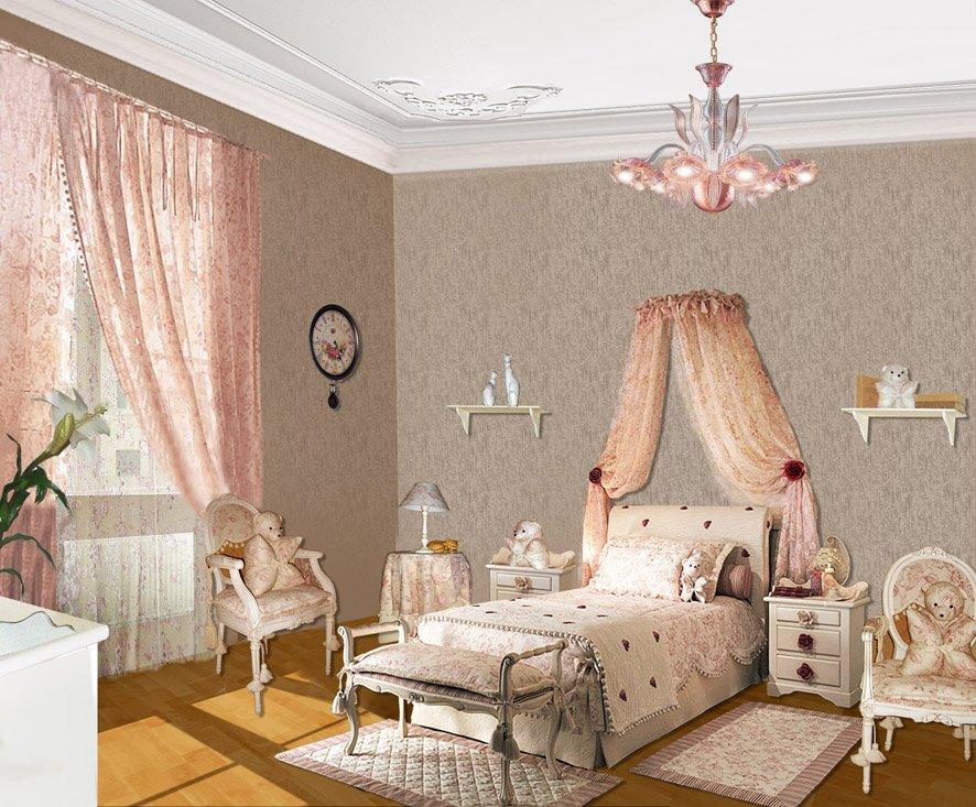 Детская комната в стиле прованс рюши