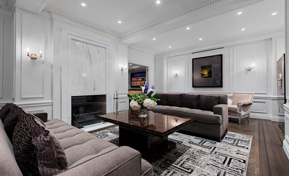 Светлая гостиная минимализм
