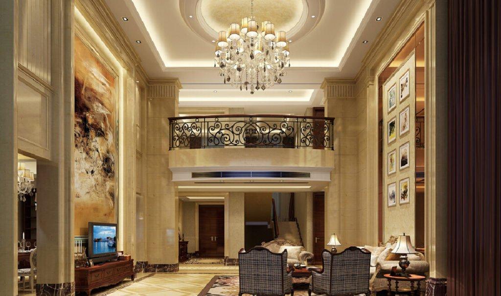 Неоклассика с зеркальными полотнами в гостиной