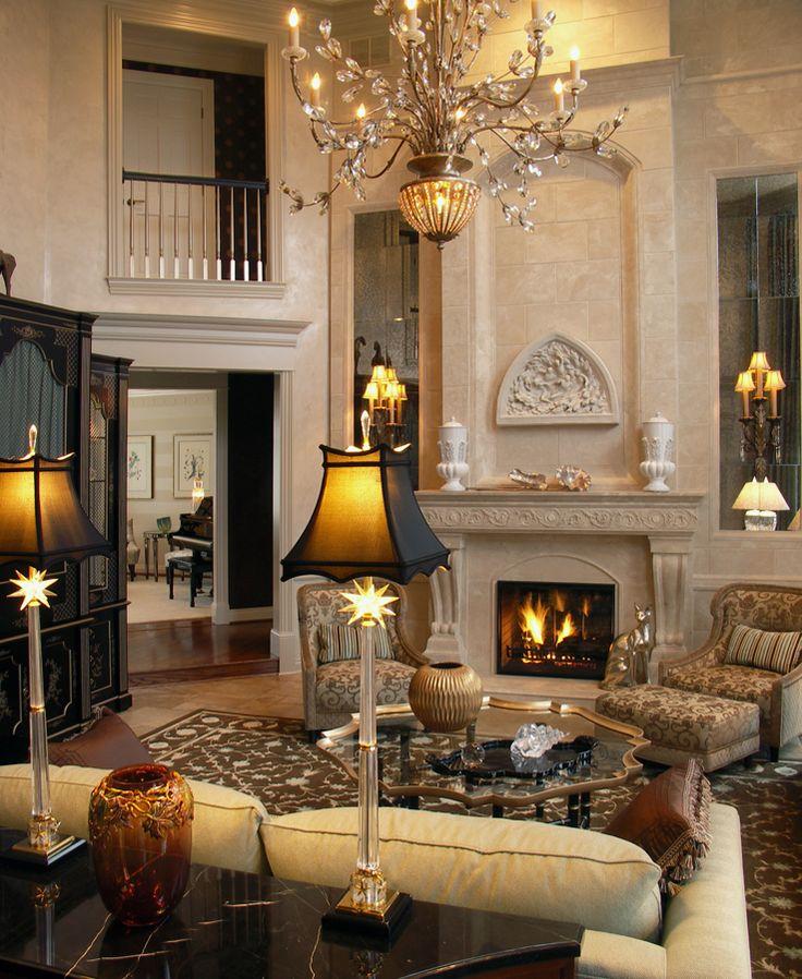 Камин в гостиной неоклассического стиля — произведение искусства