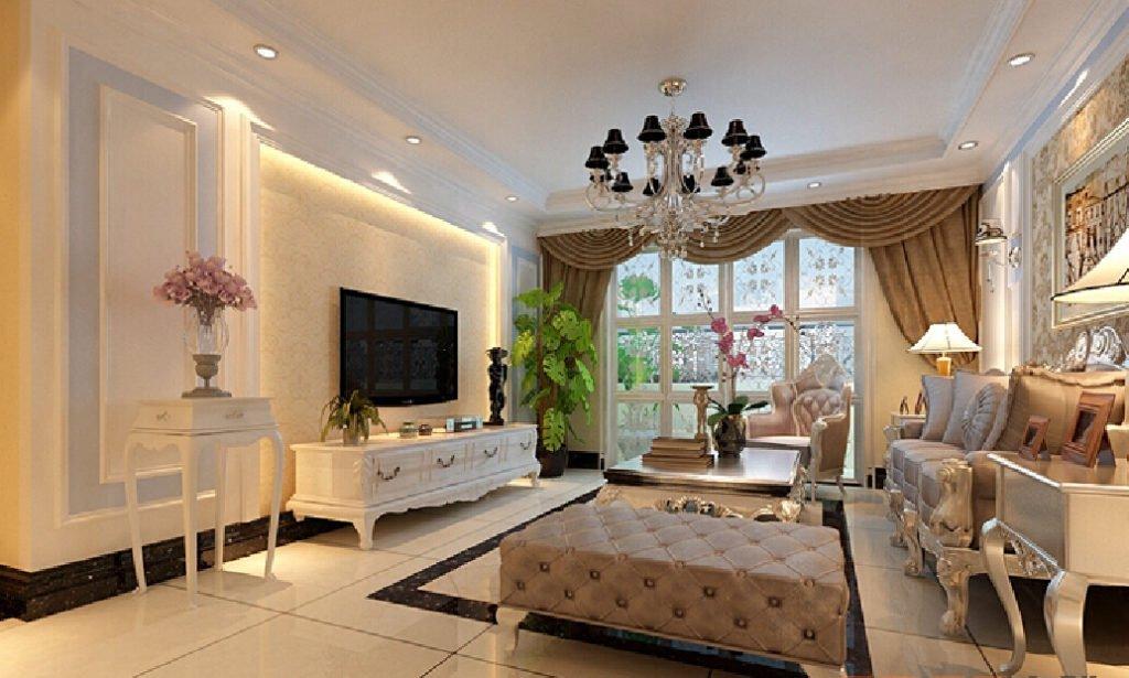 Классическая мебель с изогнутыми ножками в современном интерьере гостиной