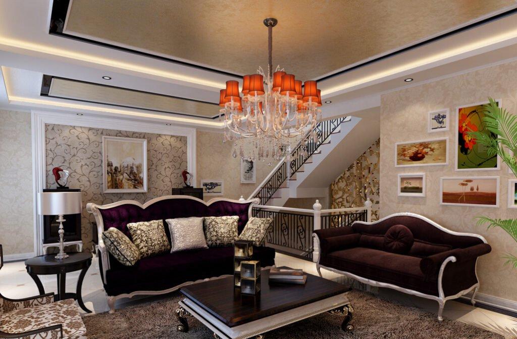 Планировка в гостиной неоклассического стиля