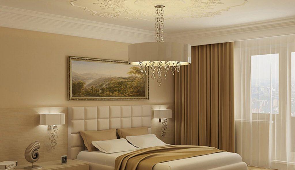 Спальня в бежевых тонах дизайн