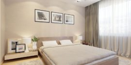 Нежность и изысканность спальни в бежевых тонах