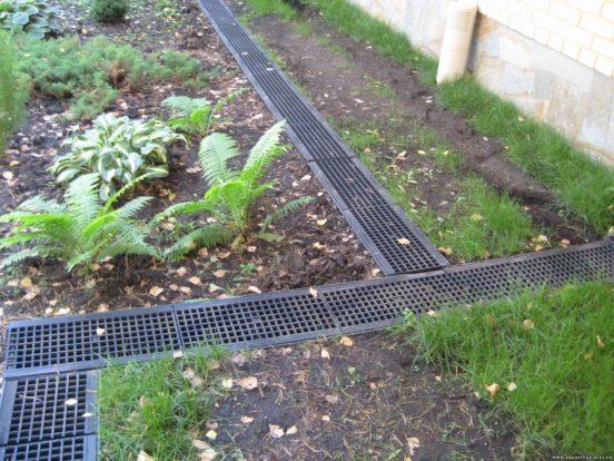 Линейный дренаж в огороде