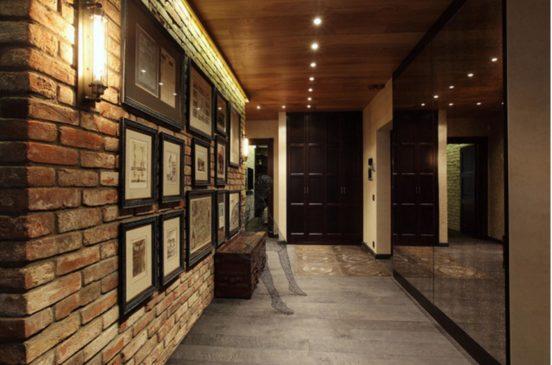 Стиль Лофт в интерьере прихожей и коридора