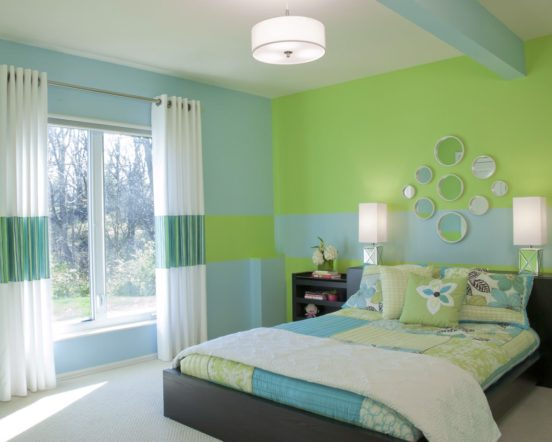 Спальня в голубом цвете