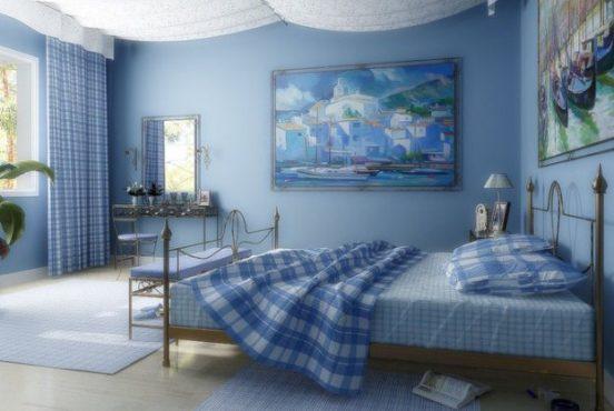 Преимущества и недостатки спальни в голубых тонах фото