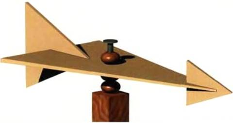 Флюгер-самолёт из дерева