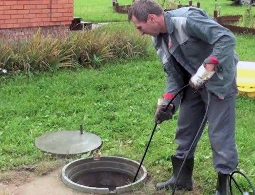 Прочистка дренажного колодца