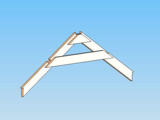 Схема крепления стропил крыши теплицы