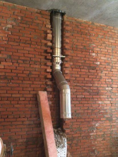Вариант стальной трубы для гильзования дымохода