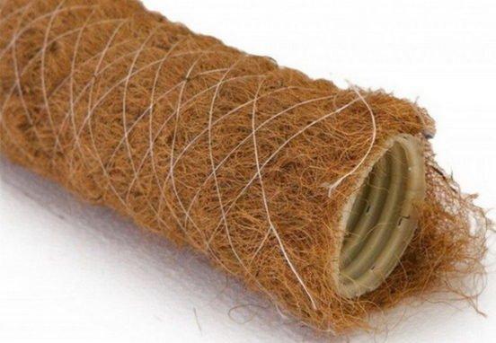 Дренажные трубы в кокосовой оплетке