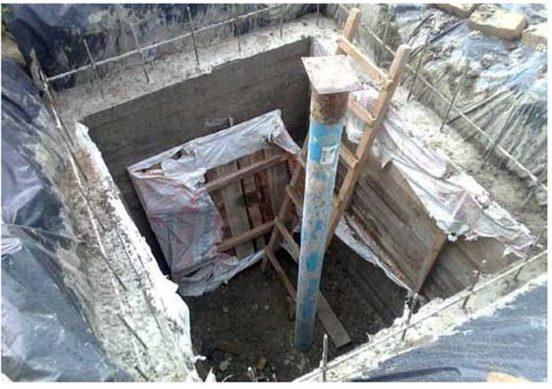 Каркас бетонного кессона