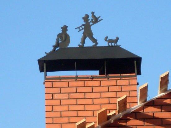 Лежачий дымоход дымоход на шиферной крыше