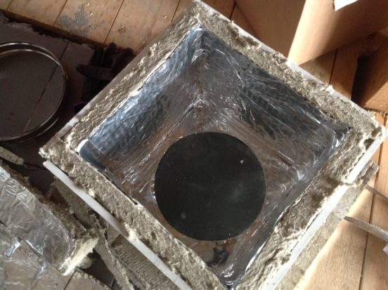 Короб для прохода дымохода через стену