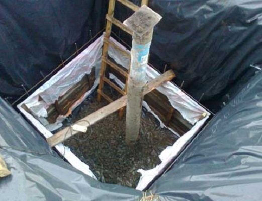 Опалубка для бетонного кессона