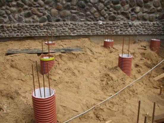 Установка обсадных труб