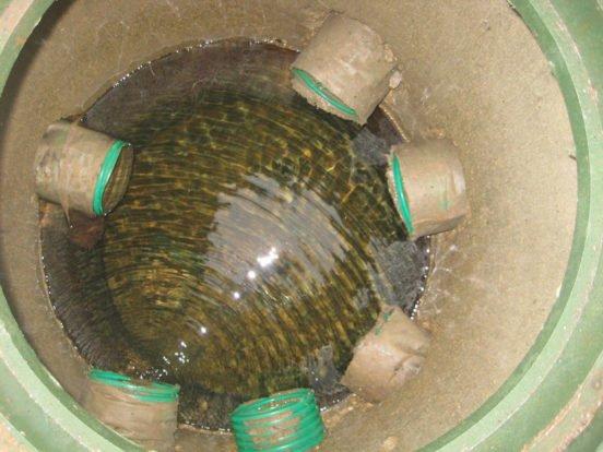Установка водоприёмного колодца