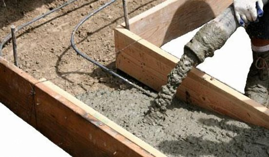 Заливка бетонного ростверка